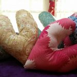Love Pillows The elongated design is intended for those recovering from breast cancer surgery.